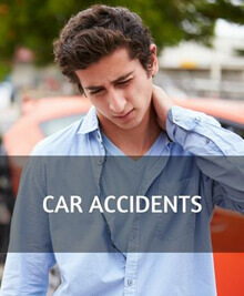 A man having a neck pain from car accidents