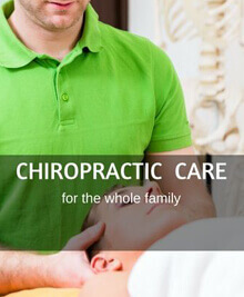 Woman doing chiropractic care